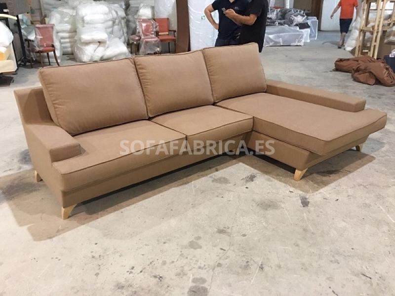 Miniatura del Sofá Edén con chaiselongue   Sofá realizado a medida en nuestra Fábrica de Sofás Valencia