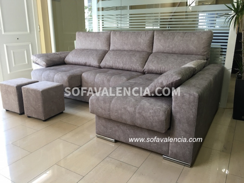 Miniatura 0 del Sofá  Chaise longue Modelo Lenon | Sofá realizado a medida en nuestra Fábrica de Sofás Valencia