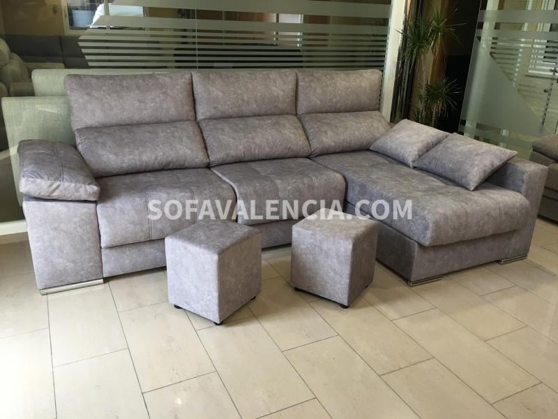 Miniatura 1 del Sofá  Chaise longue Modelo Lenon | Sofá realizado a medida en nuestra Fábrica de Sofás Valencia