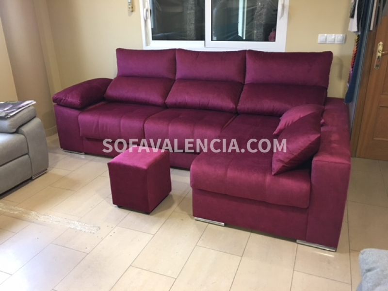 Miniatura 3 del Sofá  Chaise longue Modelo Lenon | Sofá realizado a medida en nuestra Fábrica de Sofás Valencia