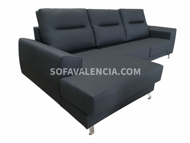 Sofa chaise longue valencia sofa sofas salones kenay home for Sofas piel barcelona