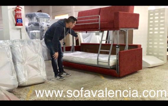Literas con sofa cama debajo adorable cama litera con sof cama abajo el futn tiene una semana - Muebles anticrisis valencia ...
