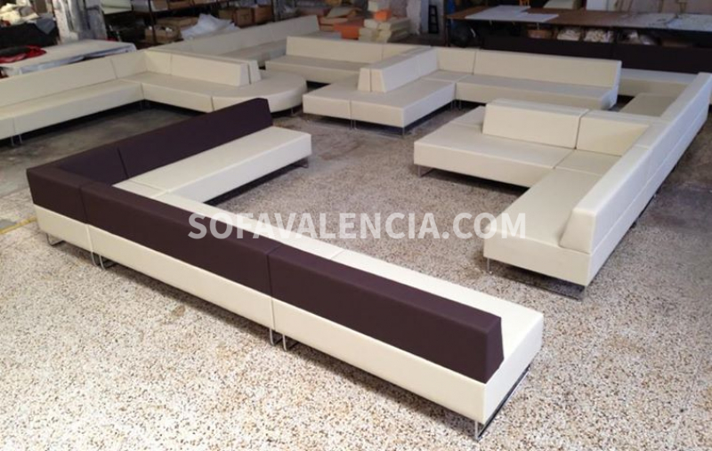 Miniatura 1 del Sofa Entidades Modelo Tetris | Sofá realizado a medida en nuestra Fábrica de Sofás Valencia