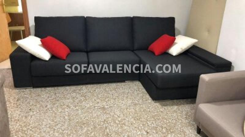 Miniatura del Sofá Jara con chaiselongue | Sofá realizado a medida en nuestra Fábrica de Sofás Valencia