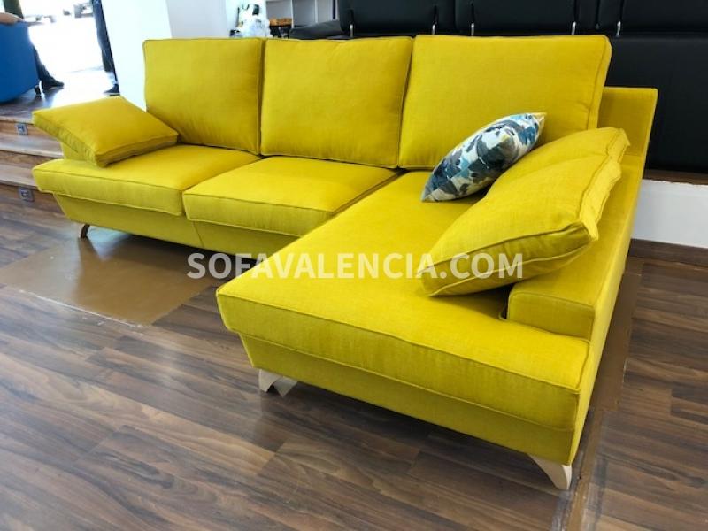 Miniatura 0 del Sofá Edén con chaiselongue | Sofá realizado a medida en nuestra Fábrica de Sofás Valencia