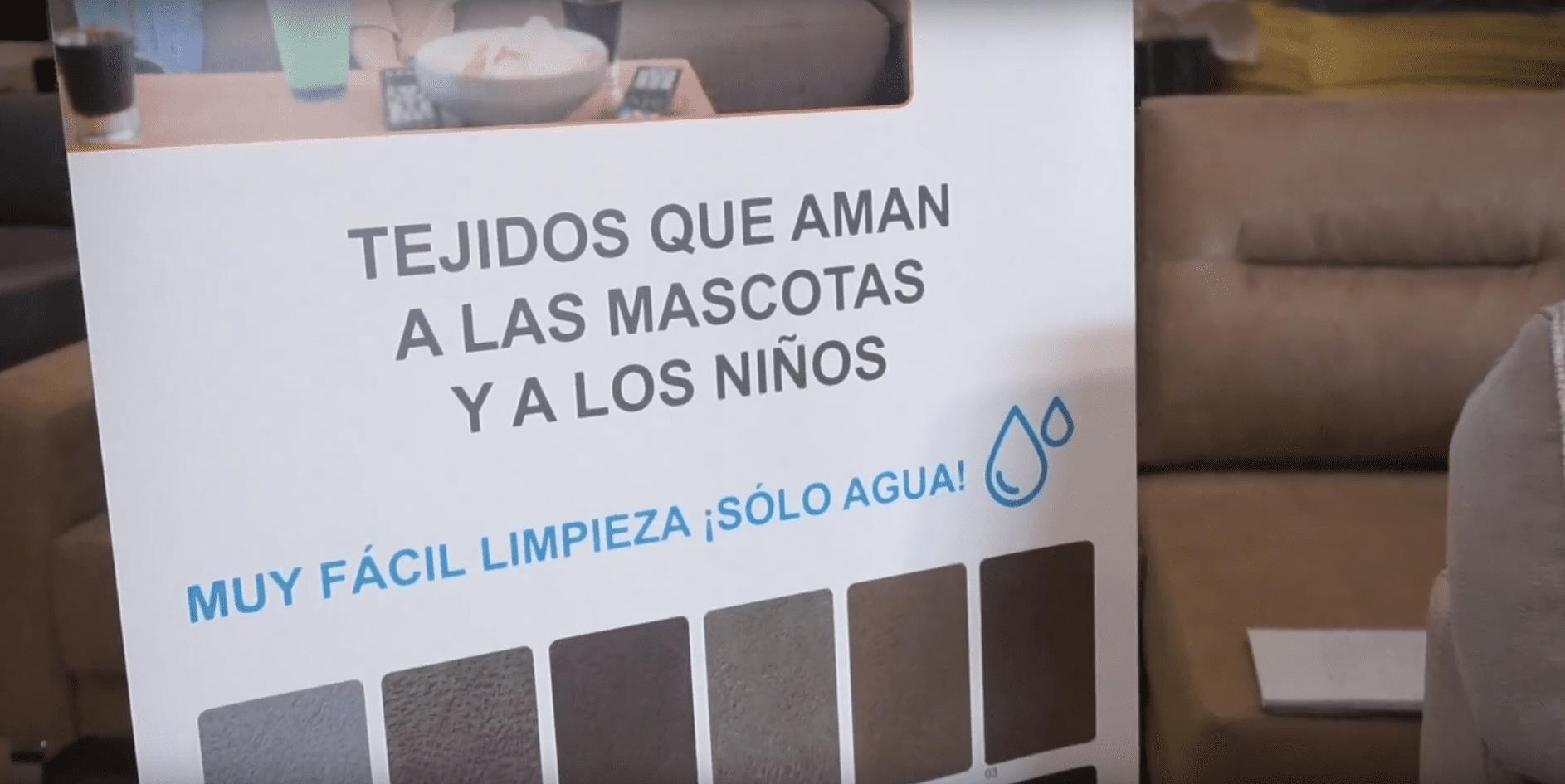 Tela Rommer anti arañazos utilizada en Sofás Valencia