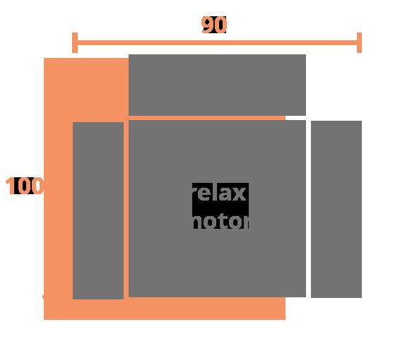 1 plaza 90 MOTOR Modelo Sillón Relax Modelo Alexis
