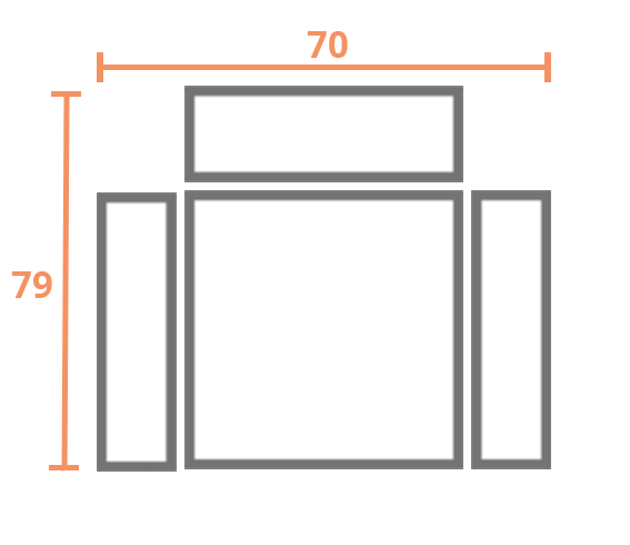 1 plaza 70 Modelo Sofá Entidades Modelo Abril
