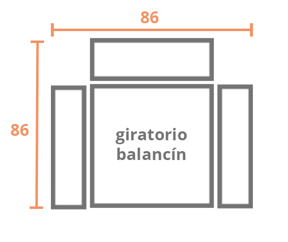 1 plaza 86 BALANCIN Modelo Sillón Relax Modelo 505
