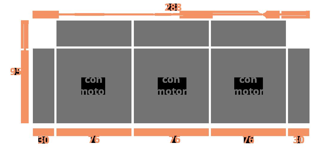 3 plazas 288 Modelo Sofá Modelo Geo