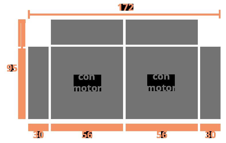 2 plazas 172 Modelo Sofá Modelo Geo