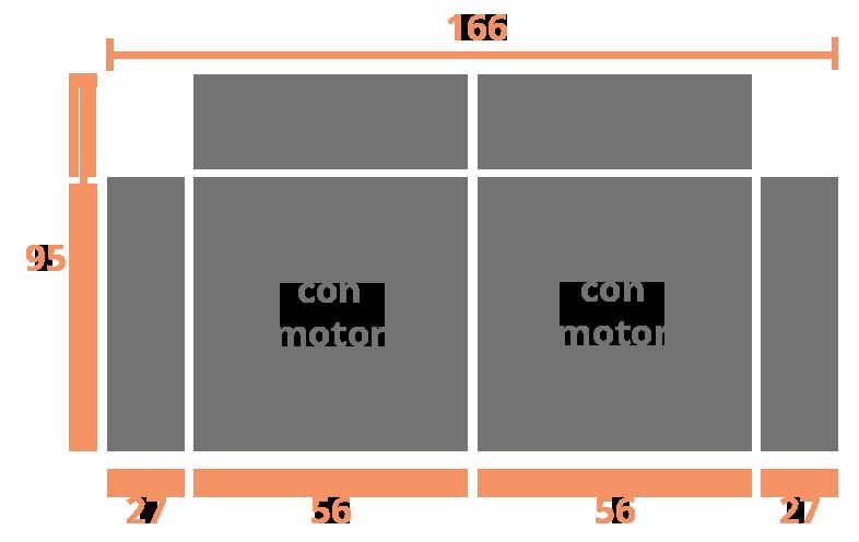 2 plazas 166 Modelo Sofá Modelo Elche