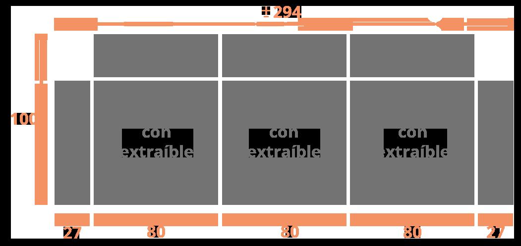 3 plazas 294  sentadas Modelo Sofá Modelo Gran Canaria