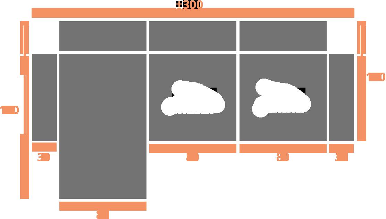 2 plazas + Chaise Longue 80 30 IZQ Modelo Sofá Chaiselongue Modelo Torino