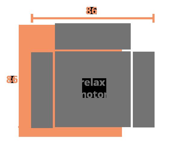 1 plaza 86 MOTOR Modelo Sillón Relax Modelo Viena
