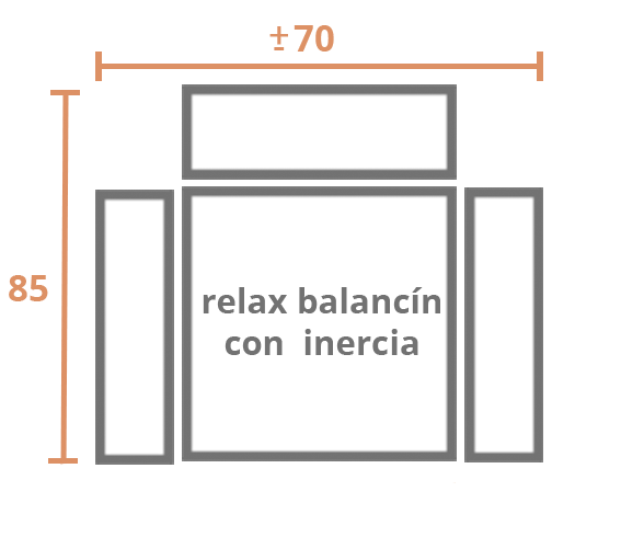 1 Plaza 70 inercia Modelo Sillón Modelo Nany