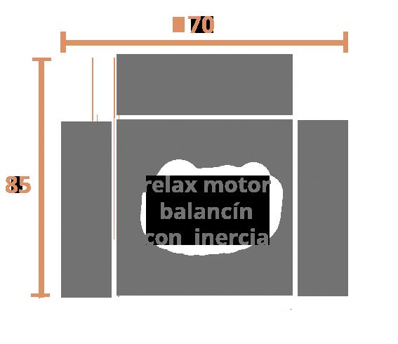 1 Plaza 70 motor Modelo Sillón Modelo Nany