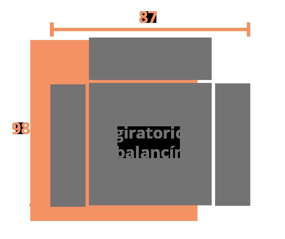 1 plaza 87 BALANCIN Modelo Sillón Modelo Kronos