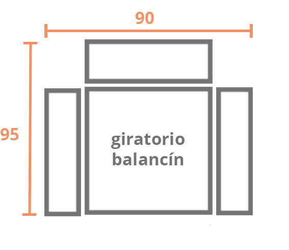 1 plaza 90 BALANCIN Modelo Sillón Relax Modelo 102
