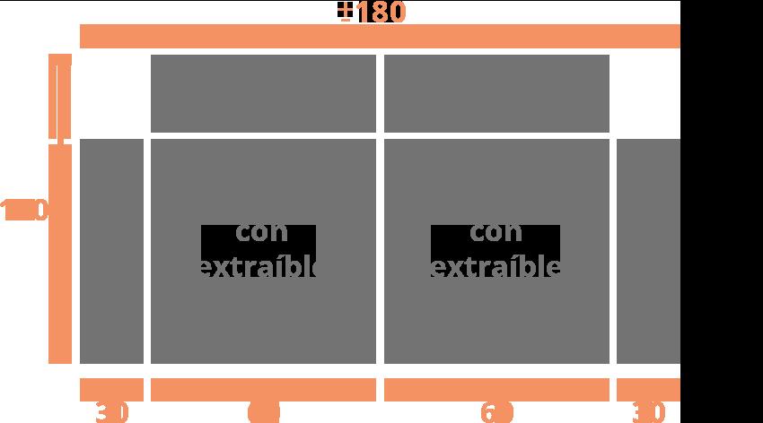 Sofá 2 plazas 180 Modelo Sofá Modelo Goya Extraible