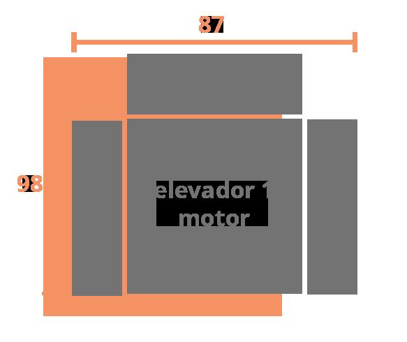 1 plaza 87 ELEVADOR Modelo Sillón Modelo Kronos