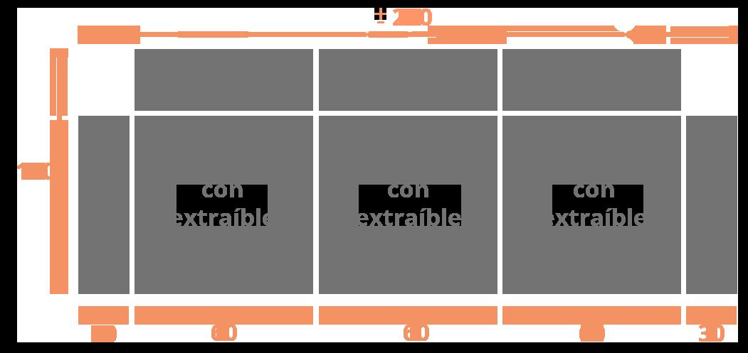 Sofá 3 plazas 240  sentadas Modelo Sofá Modelo DalÍ Extraibles