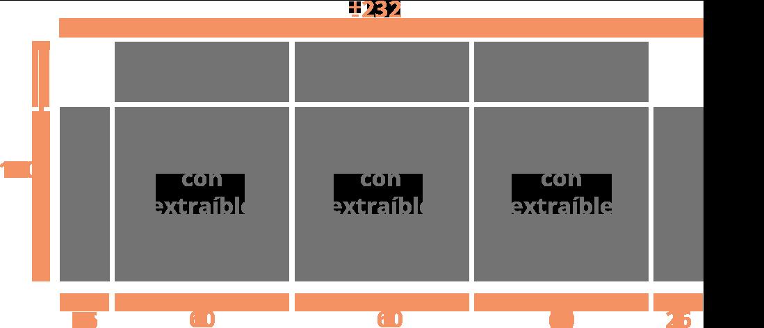 3 plazas 232 3 plazas Modelo Sofá Modelo León
