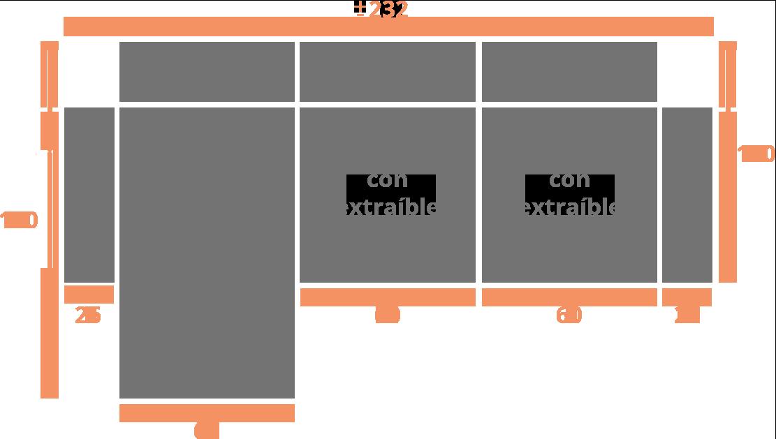 2 plaza + chaise longue 232 izquierda Modelo Sofá Chaiselongue Modelo León