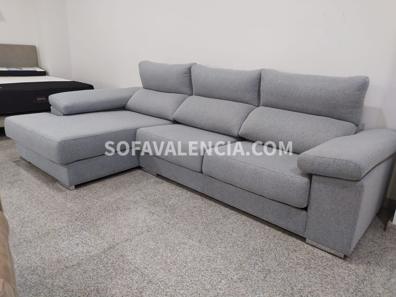 Miniatura del Sofá Chaise Longue Menorca Stock (S) | Sofá realizado a medida en nuestra Fábrica de Sofás Valencia