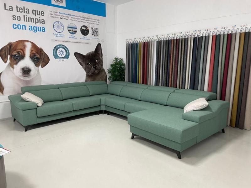 Miniatura del Sofá Rinconera Geo Stock (B) | Sofá realizado a medida en nuestra Fábrica de Sofás Valencia