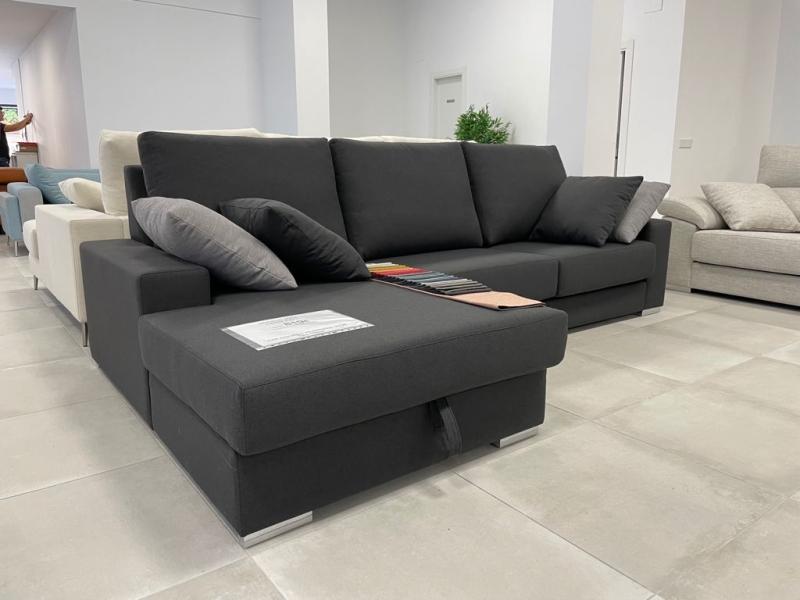 Miniatura del Sofá Chaise Longue Jara Stock (CS) | Sofá realizado a medida en nuestra Fábrica de Sofás Valencia